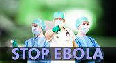 Stop Ebola Medical Background
