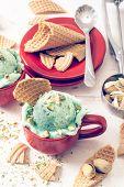 Ice Cream With Pistachios