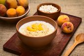Oatmeal Porridge with Peach