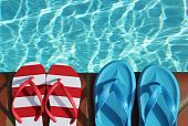 flip flops by pool