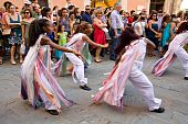 Projecto Axe' (music, Dance And Capoeira) From Brazil In Parade At Umbria Jazz Festival