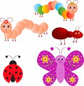 Insect Vectors, Butterfly, Caterpillar, Ant, Ladybug