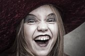 girl with hat halloween costume