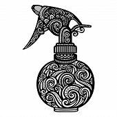 Vector Ornate Pulverizer. Patterned Design