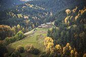 Georgia mountain forest village landscape
