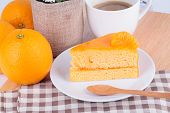 Closeup Orange cake