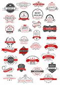 Retro set of bestseller, guarantee and quality labels