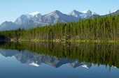 pic of reflection  - Mountain and forest Reflection in Mirror Lake - JPG