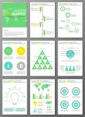 Ecology brochures and infographic set