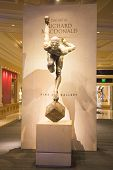 Exhibition of statues Cirque du Soleil artists in Las Vegas