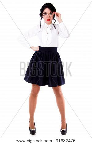 Черная Юбка И Белая Блузка В Самаре