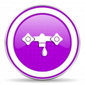 pic of hydraulics  - water violet icon hydraulics sign