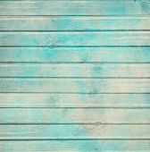 image of decoupage  - Rustic old plank background in turquoise - JPG