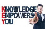 image of empower  - Business man pointing the text - JPG