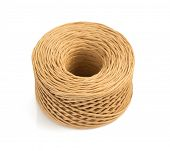 picture of cord  - roll of twine cord isolated on white background - JPG