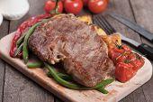 foto of rib eye steak  - Beef rib - JPG