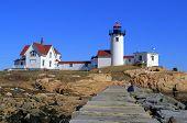 foto of lighthouse  - Eastern Point Lighthouse Gloucester MA USA - JPG