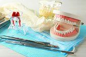 image of prosthesis  - White fake teeth - JPG