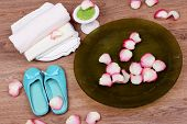 image of pedicure  - Spa bowl with water - JPG
