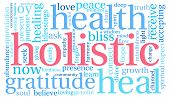 stock photo of holistic  - Holistic word cloud on a white background - JPG