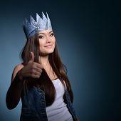 image of princess crown  - Pretty jeans princess - JPG