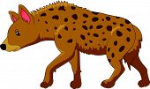 pic of hyenas  - Vector illustration of Cartoon a hyena isolated on white background - JPG