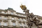 picture of erection  - The Plague Column is a Holy Trinity column located on the Graben in Vienna Austria - JPG