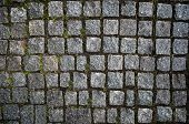 Постер, плакат: Granite cobblestoned pavement background