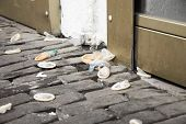 picture of venereal disease  - condoms laying on the pavement - JPG