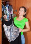 Mature Woman Chooses Dress