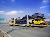 stock photo of car carrier  - car carrier - JPG