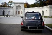 Hearse With Flag Over Coffin