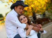 Cowgirl And Her Cowboy