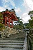 Japanese Temple And Staircase