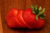 Strawberry On Cutting Board