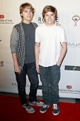 LOS ANGELES - JUN 14: Cole Sprouse and brother Dylan Sprouse at the Rock-N-Reel event held at Culver
