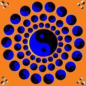 Rotating Yin Yang Symbols