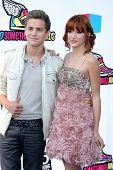 LOS ANGELES - AUG 14:  Garrett Backstrom, Bella Thorne arriving at the 2011 VH1 Do Something Awards