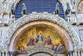 Christ Resurrection Mosaic Ancient Horses Saint Marks Church Venice Italy poster