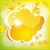 Orange autumn cloud