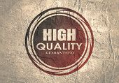 Abstract Stamp. Graphic Design Element. Distressed Grunge Texture. High Quality Guaranteed Text poster