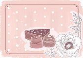 Постер, плакат: Цветочные открытки с конфеты vector фона в пастельных тонах