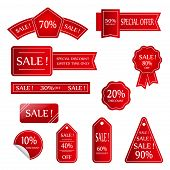 Sale Vector Banner.  Sale Sticker.special Offer Sale Sticker In Flat Style. Discount Tag. Special Of poster