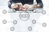 Crm. Customer Relationship Management Concept. Customer Service And Relationship poster