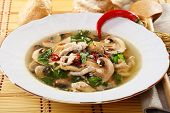 Spicy Mushroom Soup. poster