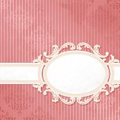 Antique pink wedding label