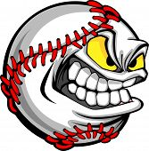 Baseball Gesicht Cartoon Ball Bild