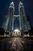 Petronal Twin Towers at Night