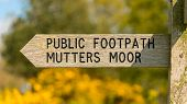 Sign: Public Footpath On Peak Hill, Near Sidmouth, Jurassic Coast, Devon, Uk poster
