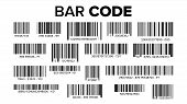 Bar Code Set Vector. Upc Bar Codes. Universal Product Code. Market Trademark. Isolated Illustration poster